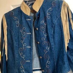 Jackets & Blazers - Vintage Phoenix Jean and Suede Western jacket